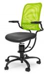 Zdravotní židle Spinalis Ergonomic, pevná ocelová konstrukce v černé barvě, možnost volby potahu, nosnost do 110 kg, cena od 16 928 Kč, www.zdravotni-zidle.cz