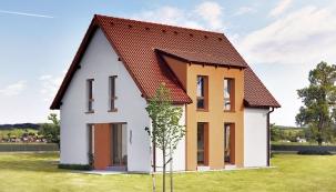 Dům Ideal umožňuje různé úpravy fasád ipřístavbu garáže či garážového stání.