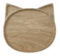 Dřevěný talíř Miss Cat, dubové dřevo, Liewood, cena 910 Kč, www.lavly.cz