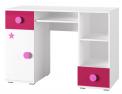 Hravý pracovní stůl Simba si oblíbí každá holčička, lamino, 120 x 79 x 52cm, cena 2547Kč, www.jena-nabytek.cz