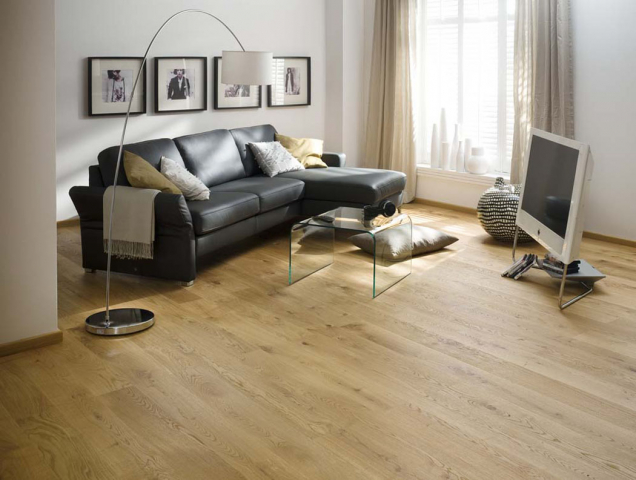 Dřevěná třívrtsvá podlaha 1FLOOR, kolekce Forte, dekor dub Forte 7 (Zdroj: KPP.cz)