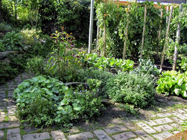Zeleninová a bylinková zahrádka jako z dob našich babiček umožní vypěstovat pestrou škálu plodin a obohacena navíc o malé jezírko udělá radost.