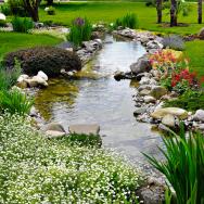 Voda je velmi vděčný zahradní prvek, zurčící potůčky zpestří prostředí a umožní život také různým druhům živočichů.