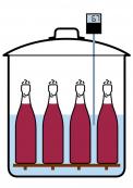 Sterilaci moštu umožňuje zavařovací hrnec. Na teploměru sledujeme teplotu. Neměla by překročit 70 °C.