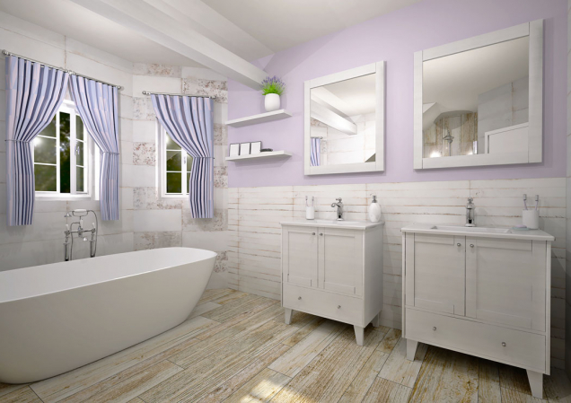 Stejně jako vpřípadě projektování ostatních prostor rodinného domu, je vhodné pohrát si isinteriérem nové nebo rekonstruované koupelny. Rozmístění sanity avůbec vybavení koupelny samozřejmě závisí na umístění tepelného zdroje (ohřev vody, vytápění) arozvodů vody aodpadů...