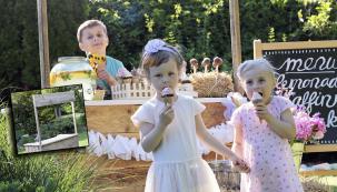 Pult na zahradní oslavu: Jeho základ je vyroben ze dvou starých palet. Zhotovíte jej za jeden den a ozdobit jej můžete podle vlastního vkusu. Večer na něj můžete pověsit i světelnou girlandu. Využijete jej na narozeninovou oslavu i na svatební hostinu.