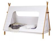 Tipi je dětská postel zlakovaného borovicového dřeva značky De Eeckhoorn, rozměry 215 × 106 × 163cm, cena11990Kč, www.bonami.cz