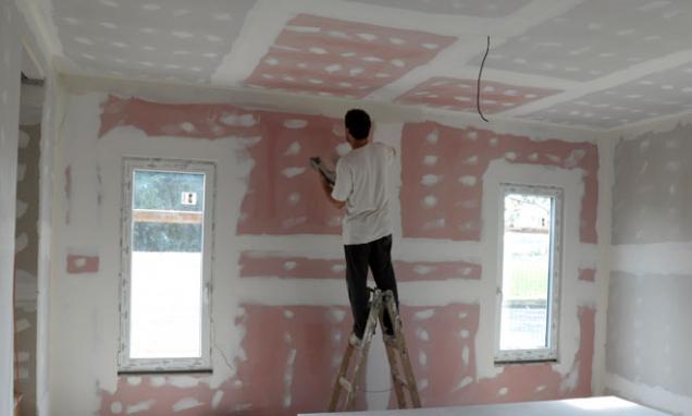 Montáž desek Knauf RED Piano na stěnu i strop