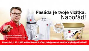 I vy můžete získat vzorky omítky Baumit StarTop za zvýhodněnou cenu.