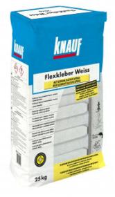 Bílé flexibilní lepidlo FLEXKLEBER WEISS lze používat jak v interiéru, tak v exteriéru, neboť snáší bez problémů i vysoké teplotní namáhání