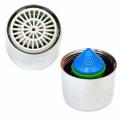 Průtok vody perlátory na kohoutcích lze jednoduše regulovat na 1 až 10 litrů za minutu.