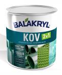 Vodou ředitelná jednovrstvá krycí barva Balakryl KOV 2v1, určená knovým irenovačním nátěrům kovů, plechů, lehkých kovů, oceli adalších materiálů (BALAKRYL)