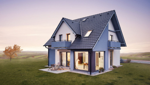 Při pohledu zvenčí dům Romance upoutá pozornost půvabnými nadčasovými tvary, které budou harmonicky rezonovat spřírodním prostředím iměstskou zástavbou.