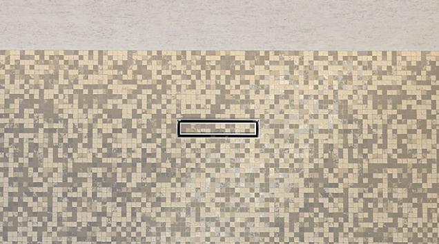 Žlábek Master lze povrchově sladit spodlahou,  ať už ji tvoří dlažba, mozaika či stěrka. Vinteriéru se stává prakticky neviditelným. Elegantní minimalistickou novinku dodává Geberit.