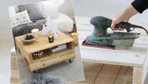 Palety nabízejí široké spektrum uplatnění vdomácnosti. I z atypických palet se dají vyrobit užitečné věci, například šikovný konferenční stolek, na kterém se budou krásně vyjímat vánoční dekorace.