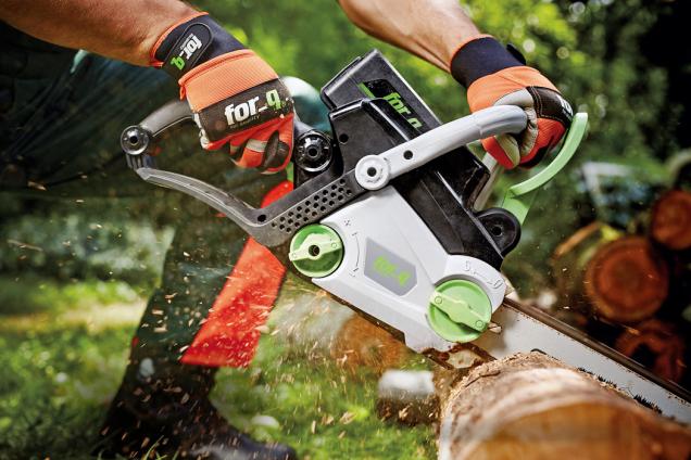 Aku řetězová pila for_q je ideální pro přípravu většího množství dřeva. Baterie je kompatibilní sostatními aku přístroji for_q, cena bez baterie anabíječky 4790Kč (HORNBACH)