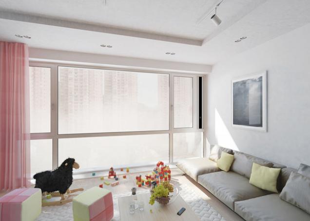 Důmyslný ventilační systém Schüco VentoLife je plně integrovaný do pravé svislé části okenního profilu (SCHÜCO)