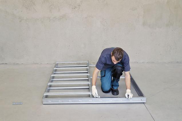 11. Sestavené stavební pouzdro Profikit je připravené kosazení do určeného stavebního otvoru