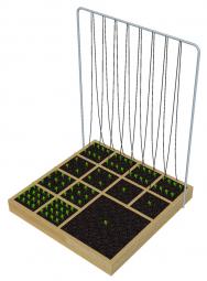 Na přelomu 70. a80. let minulého století přišel Američan Mel Bartolomew skonceptem Square Foot Garden.