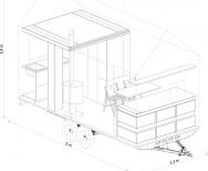 Dům je promyšlen do posledního nýtku, každý milimetr prostoru je vyřešen tak účelně, že do něj sbalíte byt o velikosti 2+kk. (Zdroj: Mobile Hut)