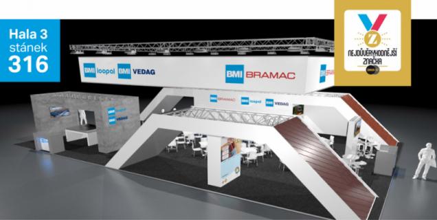 BRAMAC, přední český výrobce a dodavatel střešních krytin a doplňků, přivítá návštěvníky veletrhu Střechy Praha 2019 na stánku, který bude oproti minulému ročníku o 60 m2 větší. Důvodem je společná expozice sfirmou ICOPAL VEDAG, která je stejně jako BRAMAC součástí nadnárodní skupiny BMI Group. Na jednom výstavním stánku tak budou prezentovány tři značky zportfolia skupiny: BMI BRAMAC, BMI ICOPAL a BMI VEDAG. Velkou premiéru bude mít na veletrhu střešní taška Classic AERLOX. Tato unikátní novinka zdílny společnosti BRAMAC představuje další technologický posun ve výrobě betonových tašek a na trhu nemá zatím obdoby.