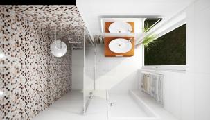 I malá koupelna může být příjemná a elegantní – záleží na výběru sanity a nábytku i na celkovém uspořádání. Pokud do toho zapojíte vhodné barvy a povrchy, máte vyhráno (SIKO)