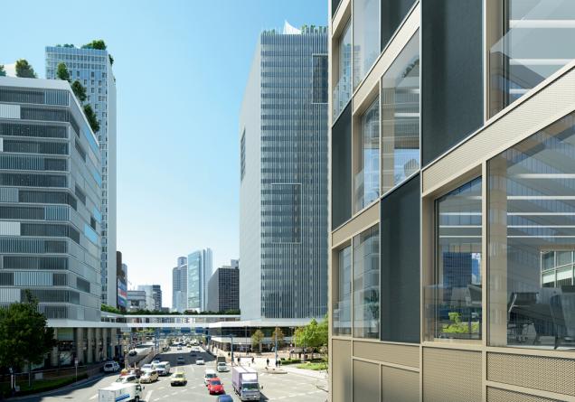 Schüco prototyp představený během BAU 2019: Vnější fasády pohlcující zvuk mohou významně přispět ke snížení šíření hluku v městských oblastech. (Zdroj: Schüco CZ)