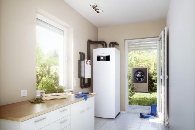 Tepelná čerpadla Logatherm představují ideální kombinaci ekologické výroby energie a komfortu. Stěží můžete topit a ohřívat vodu s nižšími náklady (BUDERUS)