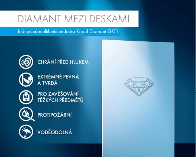 Vlastnosti desky Knauf Diamant (Zdroj: Knauf)