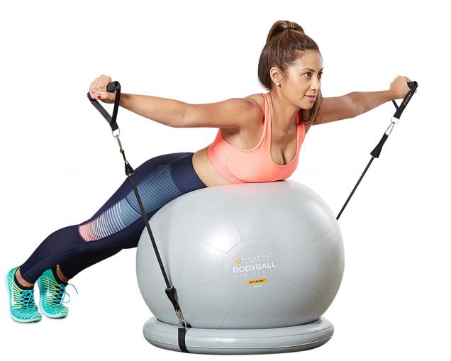 Kompletní sada posilovacího systému Bundle určená pro domácí fitness odvýrobce Mantra Sports, výběr zvelikostí 65 nebo 75cm, výběr ze dvou barevných variant, cenacca 897Kč, www.mantrasports.com