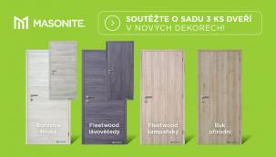 Soutěžte o sadu 3 ks dveří v nových dekorech (Zdroj: MASONITE)