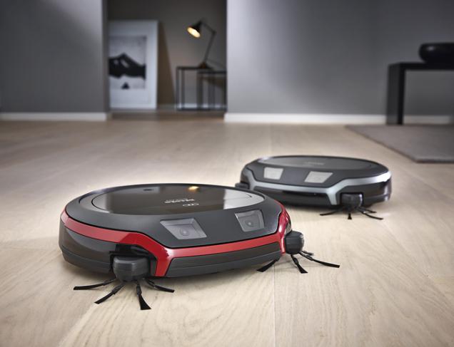 Robotický vysavač Scout RX1 používá navigační systém Smart Navigation kombinující kamery, senzory, elektroniku a software, takže se orientuje v prostoru precizně a spolehlivě (MIELE)