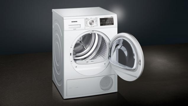 iQ500 WT45W461CS je kondenzační sušička prádla stepelným čerpadlem asamočisticím kondenzátorem pro vysokou energetickou účinnost (SIEMENS)