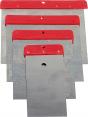 7. Japonské špachtle: Sada čtyř kusů tmelicích stěrek – tzv. japonských špachtlí Haromac (50/80/100/120 mm). Jejich předností jsou dlouhé čepele usnadňující variabilitu úchopu, cena 35 Kč(HORNBACH)
