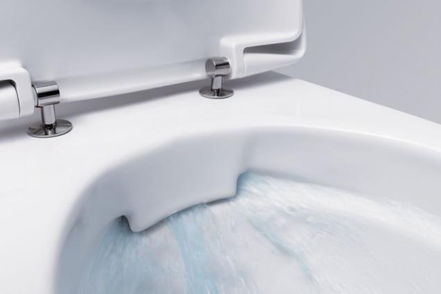 WC Rimfree® anebo toaletní mísa bez splachovacího kruhu představuje inovativní a unikátní technologii na trhu, která je k dispozici jenom v nabídce toalet KOLO a GEBERIT. (Zdroj: GEBERIT)