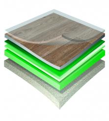 Struktura podlahy Gerflor s textilní podložkou (Zdroj: GERFLOR)