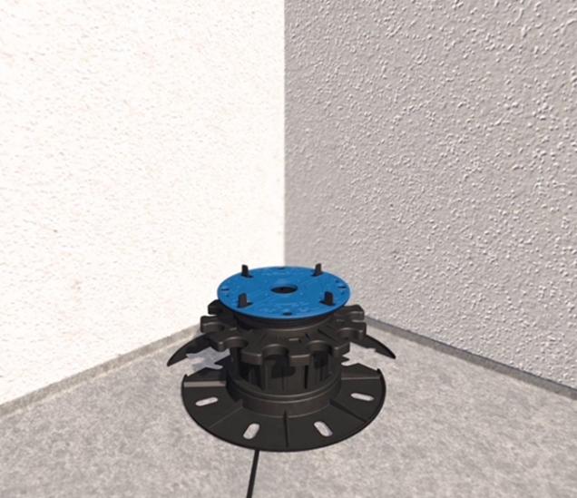 2. Z výškově stavitelných terčů je možné pro aplikaci v rozích a u stěn odstranit část podstavce. Na spodní straně podstavce je již z výroby naznačeno, kde lze terč odříznout. Dá se odříznout jak pro použití do rohu, tak i vodorovně ke stěně. (Zdroj: HPI-CZ)