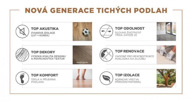 Gerflor TopSilence Design – výhody (Zdroj: Gerflor)