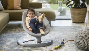 """""""Posaďte se a pohoupejte,"""" láká NUNA LEAF grow inspirovaná listem vznášejícím ve větru (Zdroj: Babypoint)"""
