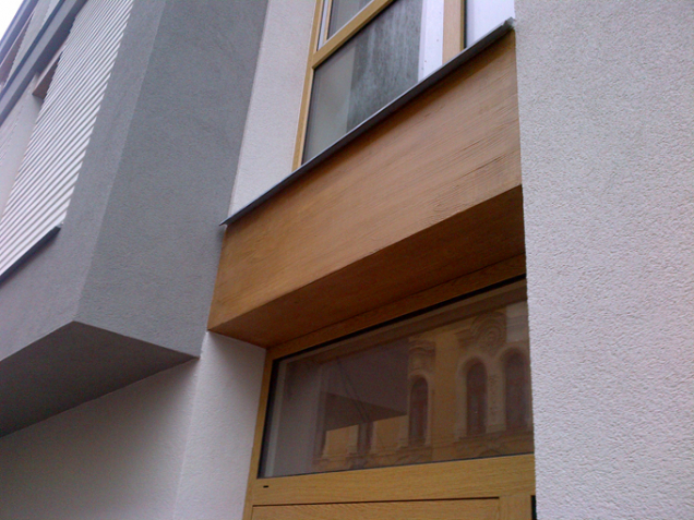 Bytový dům, Fráni Šrámka. Kreativní technika fládrování – DETAIL (Zdroj: Baumit, spol. s r.o.)