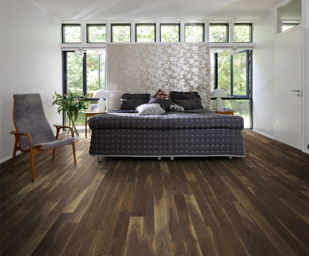 Dřevěná podlaha KÄHRS, kolekce American naturals, dekor ořech americký georgia (Zdroj: KPP)