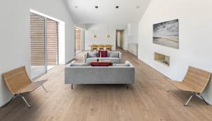 Dřevěná podlaha Kährs, kolekce Lux, dekor Dub Coast utra matný lak (Zdroj: KPP)