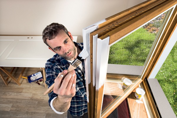 Malovaní oken (Zdroj: HORNBACH)