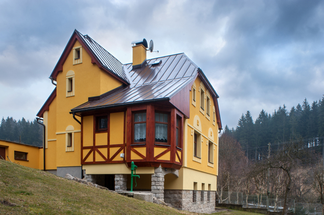 Obnova fasády, Lučany nad Nisou (Zdroj: Baumit)