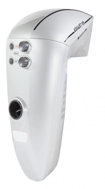 8. Závěsný protiproud:prodejce Mountfield, cena:36690Kč  Protiproud Aqua Jet 100 je určen pro všechny zapuštěné bazény sminimální délkou nebo průměrem 5m. Výkon lze regulovat na60–100 m3/h, aproto je vhodný protiproud nejenom pro rekreační plavání, ale ipro velmi zdatné plavce. Je možné také zapnout funkci perlení avyužít jej pro masáž arelaxaci.