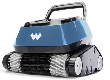 5.Bojovník sešpínou:prodejce Mountfield, cena:15950Kč  Automatický vysavač Azuro Warrior čistí dno bez nutnosti filtrační jednotky. Otočný Swivel zabraňuje zamotání kabelu. Díky technologii FocusFlow, která vytváří koncentrované sání, si vysavač poradí sběžnými nečistotami adobazénu vrací čistou, přefiltrovanou vodu.
