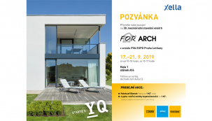 Na výstavišti vLetňanech od 17. do 21. září se představí systém Ytong spolu sdalšími značkami výrobce Xella na jubilejním 30. For Archu a nabídne materiál za speciální veletržní cenu. Odborná veřejnost se pak může setkat také vnejvětších krajských městech, kde se vříjnu koná Ytong Dialog, zaměřený na nové normy roku 2020. (Zdroj: XELLA)