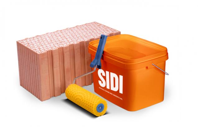 Nová silikátově-disperzní předem připravená malta HELUZ SIDI je hotová maltová směs, na stavbě se již nic nepřidává (Zdroj: HELUZ)