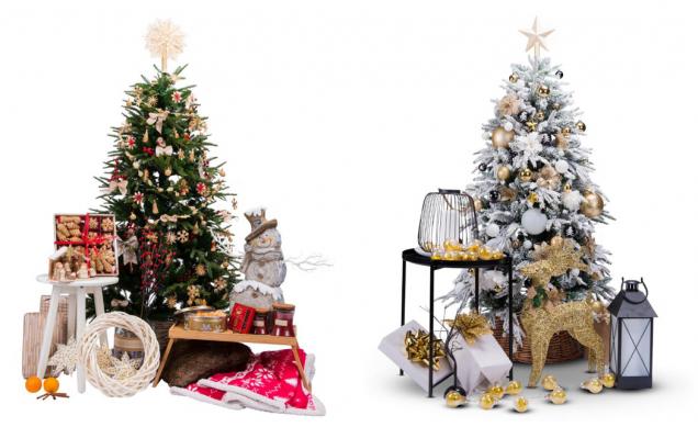 V nabídce najdete vánoční dekorace v různých stylech. Trendem letošních Vánoc jsou tradiční staročeské slaměné ozdoby a dekorace z přírodních materiálů i moderní ozdoby v elegantní bílé barvě. (Zdroj: Mountfield)