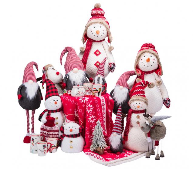 Plyšové postavičky promění váš byt ve vánoční pohádku. (Zdroj: Mountfield)